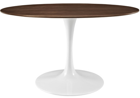 """Flower Table Walnut 60"""" Oval"""