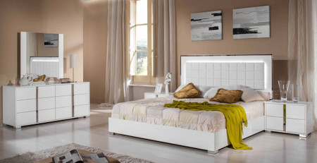 San Francisco 5pcs Modern White Bedroom Set