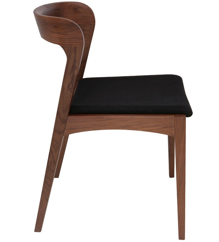 Beau ... Bjorn Dining Chair Walnut Frame ...