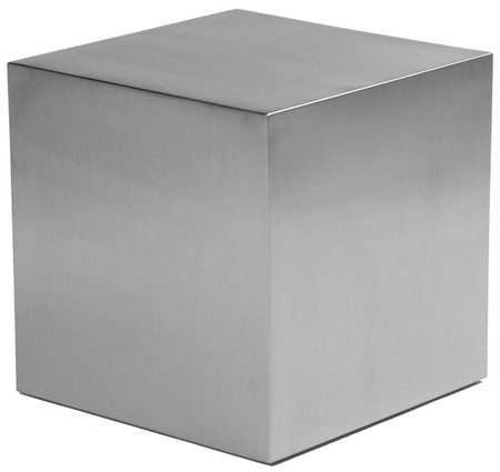 Stainless Steel Cube Side Table Advancedinteriordesigns Com