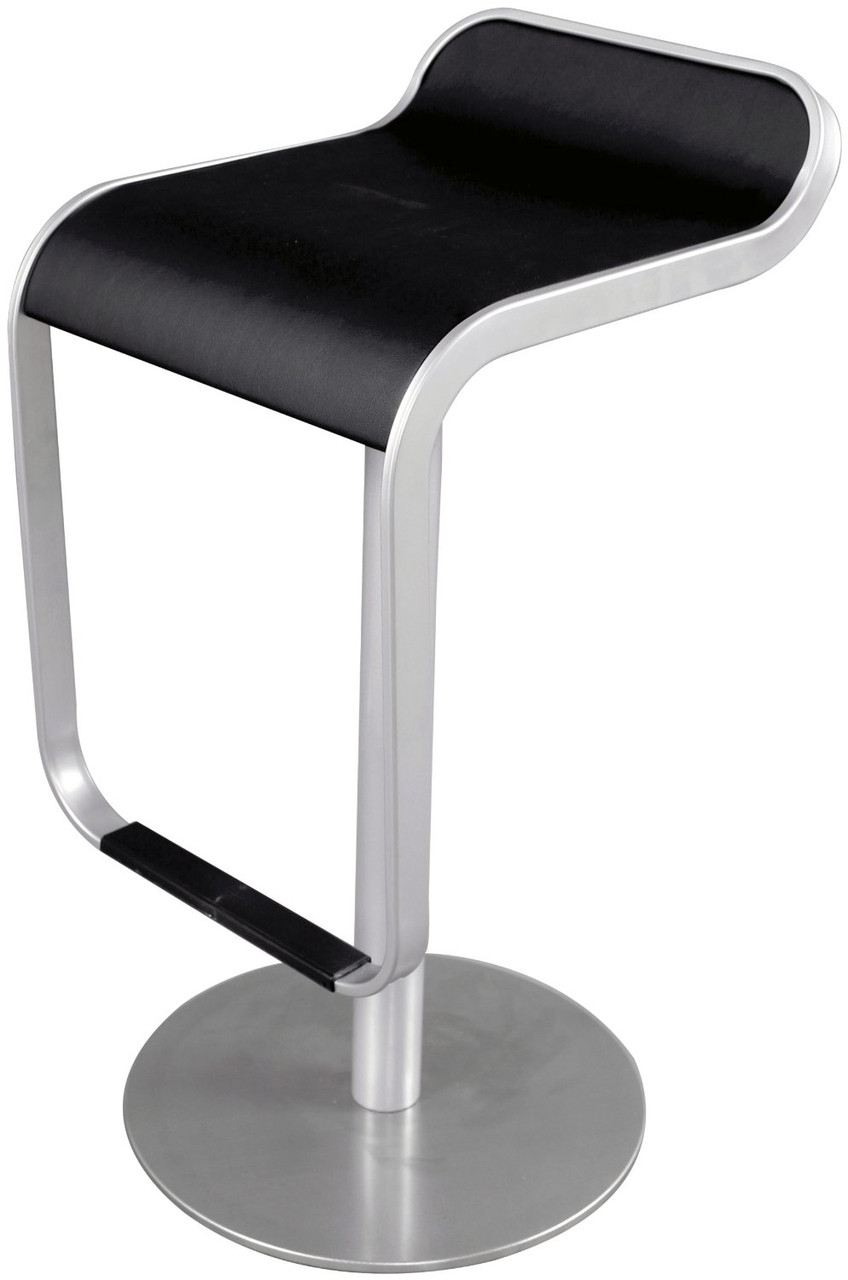 Zuo Equino Bar Stool With Brushed Steel Frame Home and  : LemStoolInBrushedFrameBlack03353145566907112801280 from stores.advancedinteriordesigns.com size 848 x 1280 jpeg 227kB