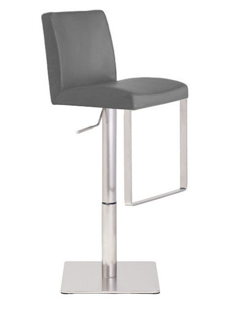 Neo Hydraulic Stool Brushed Frame In Black White Grey