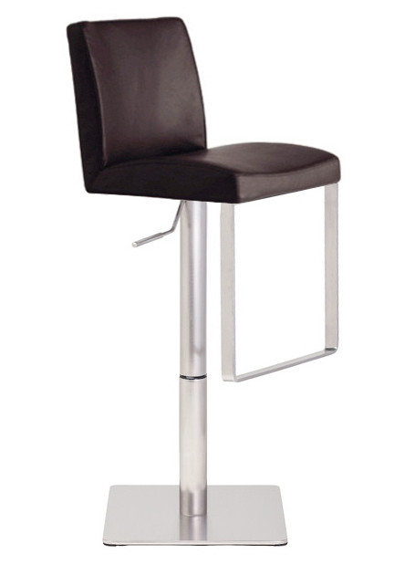 Neo Hydraulic Stool Leather And Stainless High End