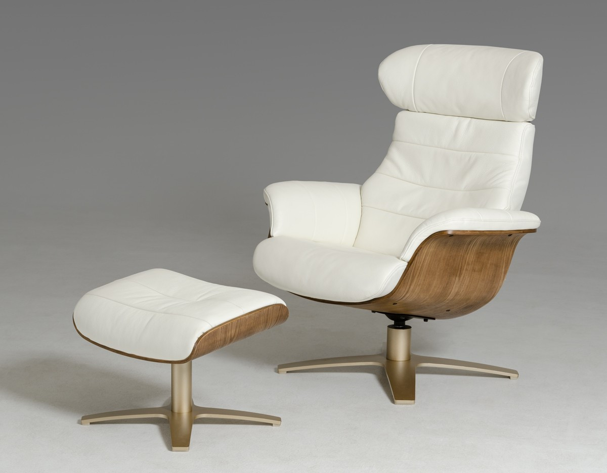 Fantastic Luxur Leather Reclining Lounge Chair And Ottoman Evergreenethics Interior Chair Design Evergreenethicsorg