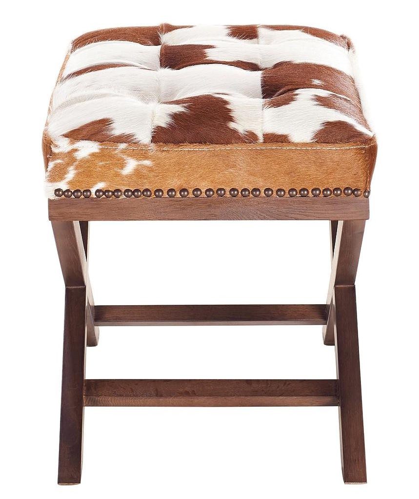Otto Natural Cowhide Ottoman | Cowhide Ottomans and Stools