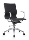 Glider Low Back Office Chair Black By Zuo Modern