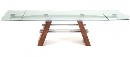 "79"" - 116"" Glass Table Large"