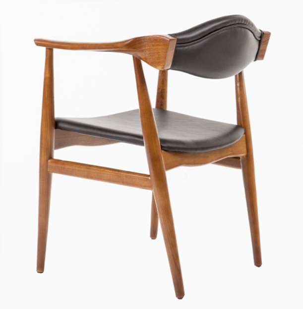 Dining Arm Chairs aline leather danish mid century dining arm chair | danish chairs