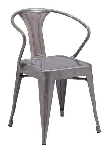 Helix Dining Chair Gunmetal