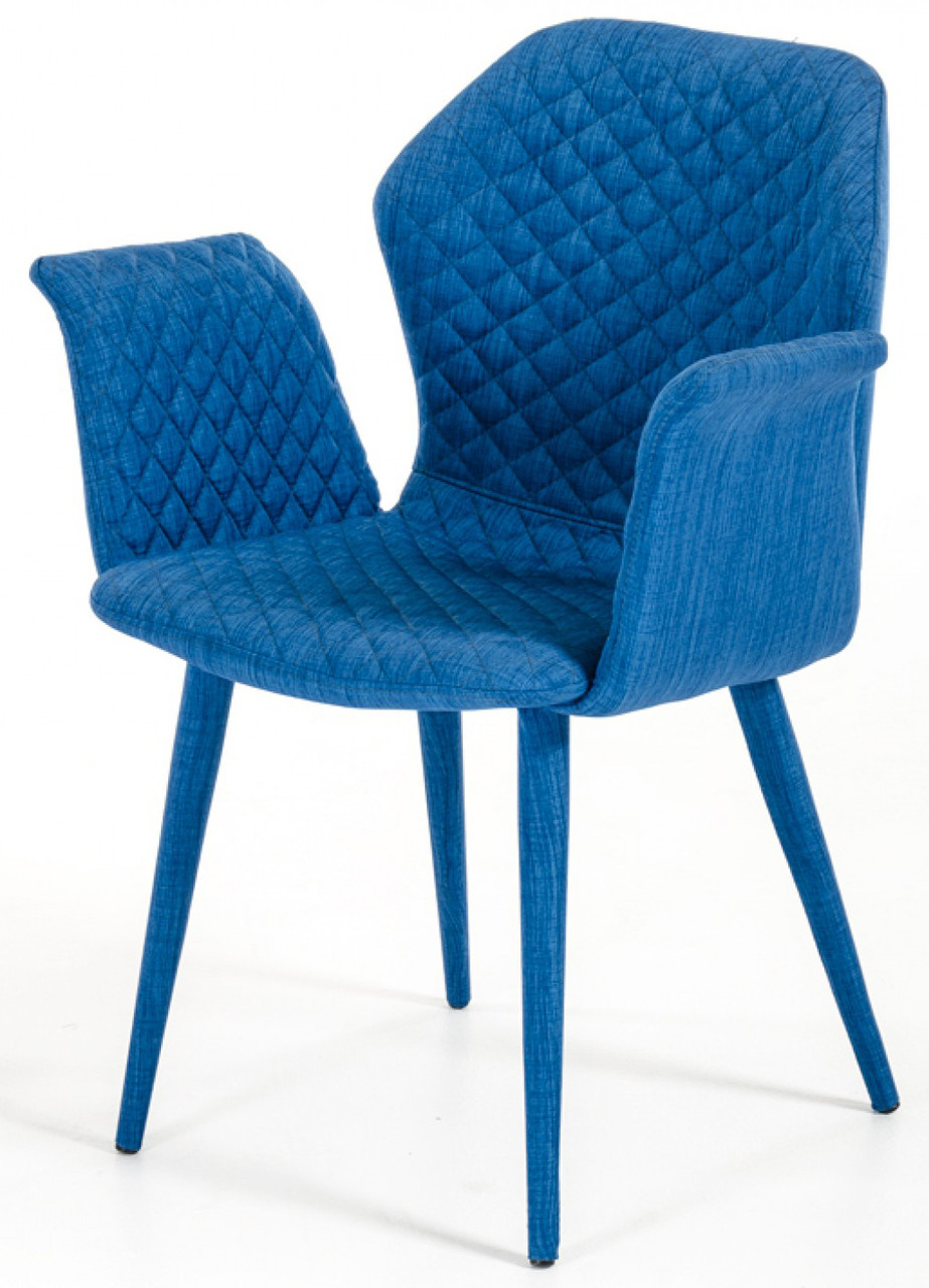 Adamo Blue Upholstered Dining Chair Blue Fabric Dining Chair
