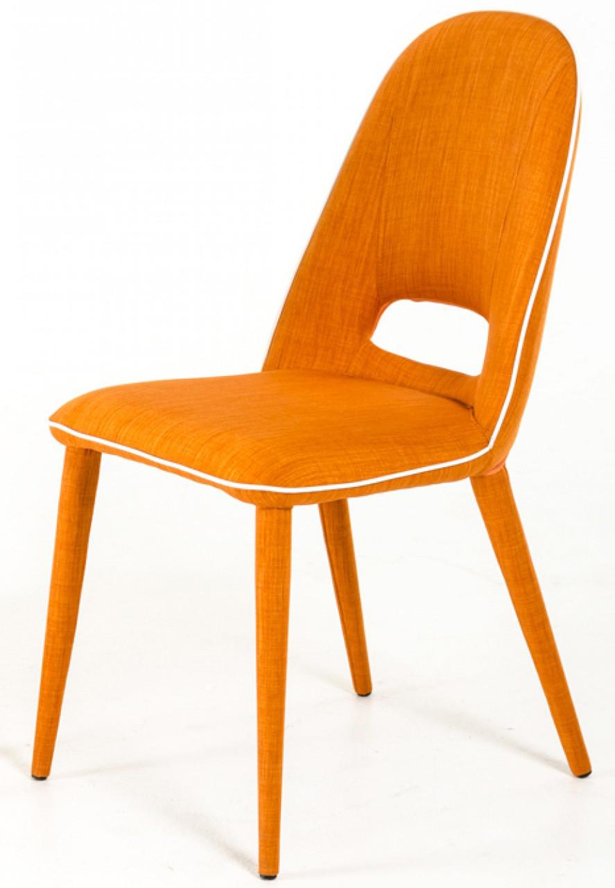 Kenneth Orange Fabric Dining Chairs Orange Dining Chair