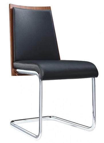 black modern dining chair