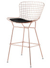 Bertoia Bar Stool In Rose Gold Finish