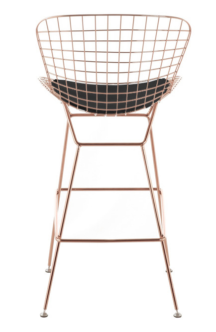 Black And Rose Gold Bar Stools Home Ideas