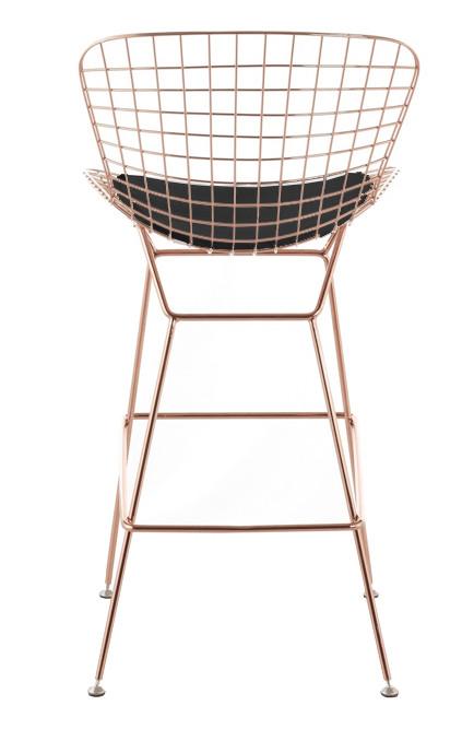 Bertoia Counter Stool Chair In Rose Gold Wire Bertoia