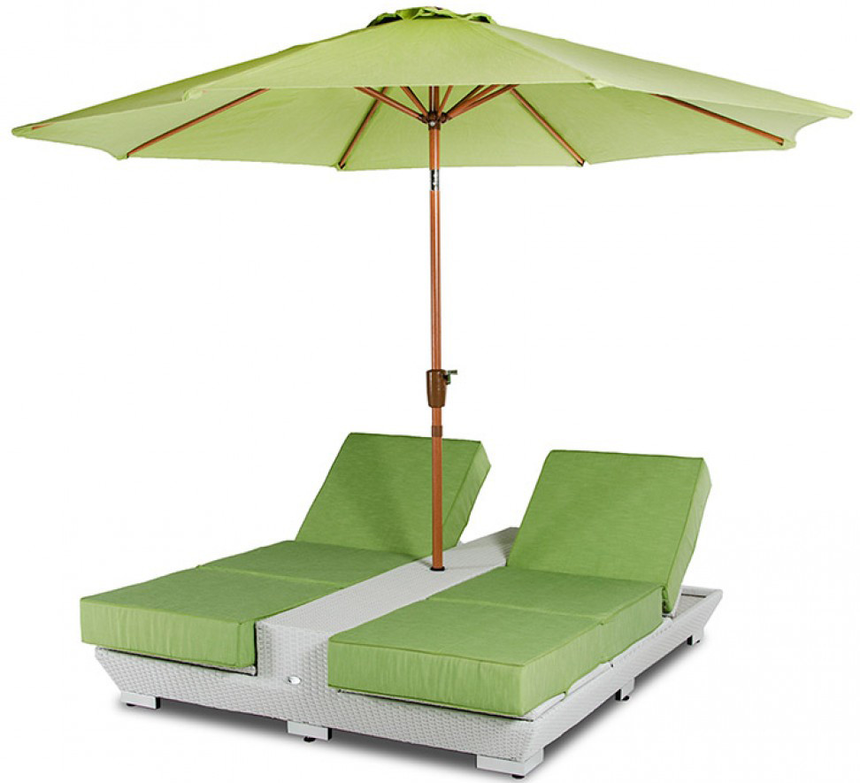 daytona green lounge chairs with umbrella outdoor patio furniture