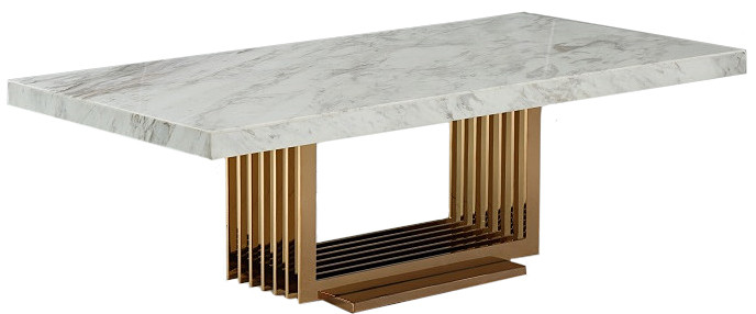 Fabrizio Modern White Marble Coffee Table Modern Coffee