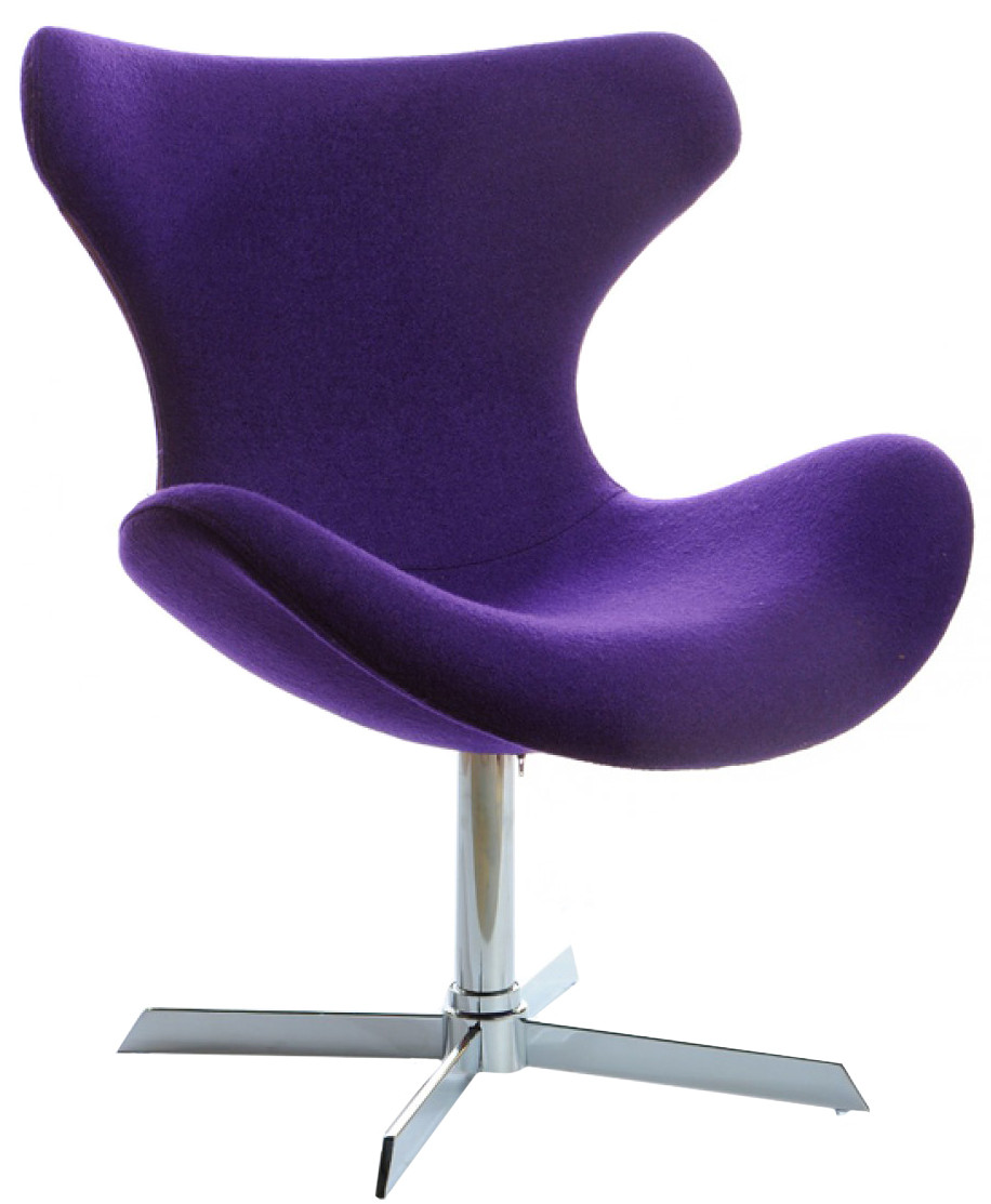 Rogers Purple Lounge Chair Modern Purple Accent Chair