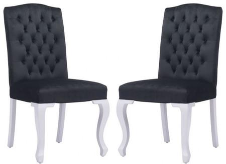 Bourbon Dining Chair Black Velvet