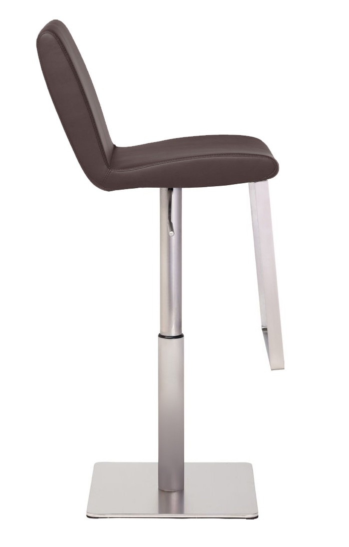 ... lewis-stool-brushed-finish-brown.jpg  sc 1 st  Advanced Interior Designs & Nuevo Lewis Bar Stool In Brushed Stainless Steel Frame ... islam-shia.org
