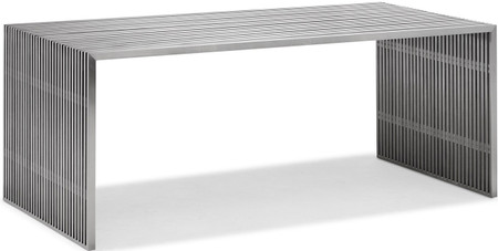 Novel Dining Table Brushed Stainless Steel