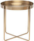 Gaultier Side Table Made In A Brushed Gold Finish And Constructed With Vacuum Plated Stainless Steel
