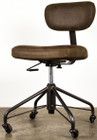 Rand Office Chair In Leather And Made With Steel Casters