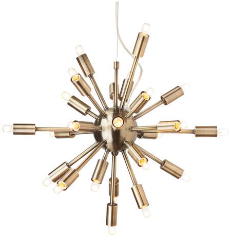 Sputnik Pendant Lamp Antique Brass