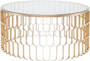 Jewel Coffee Table In Brushed Gold Stainless Steel