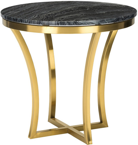 Aurora Side Table Black Marble Modern Gold Side Table