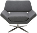 Nuevo Sly Lounge Chair Grey