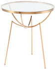 Areille Side Table Brass Stainless Steel