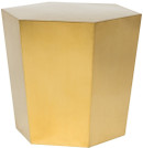 Hexa Side Table, Brushed Gold
