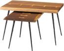 Nexa Nested Tables Smoked Oak / Black Cast Iron