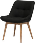 Brie Dining Chair Black Wool