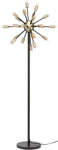 Sputnik Floor Lamp Matte Black And Antique Brass