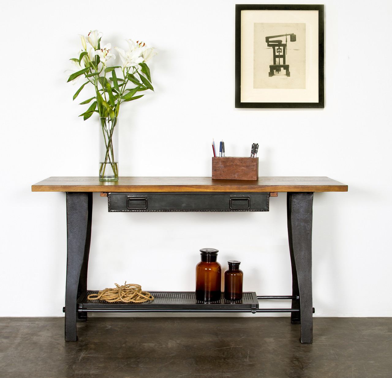 Shuttle Console Table Industrial Style Console Table