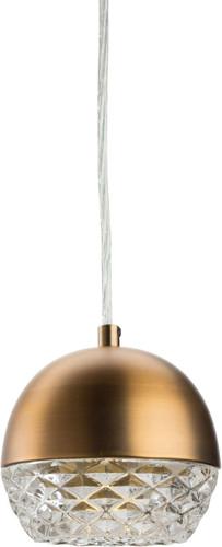 Quartz Pendant Lamp Antique Brass