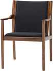 Alto Occasional Chair Black Fabric Walnut