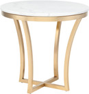 Aurora Side Table White Marble And Gold