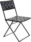 Folding Leather Chair In Black