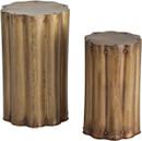 Zeb Accent Tables Antique Brass