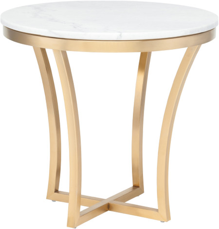 Aurora Side Table In Gold Finish