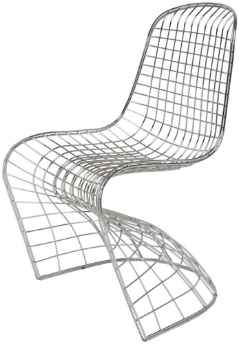 Wire S Chair With Chrome Steel Wire Frame