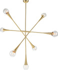 Tristan 7 Pendant Lamp In Brass