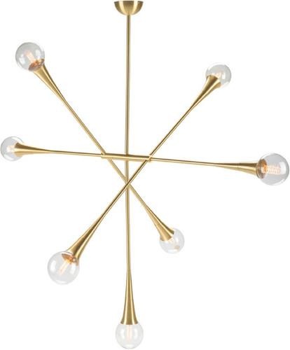 Tristan 7 Pendant Lamp In Brass