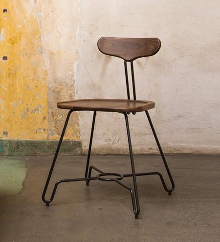 Troy Dining Chair In Fumed Oak