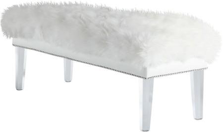 Helena Sheepskin Bench White
