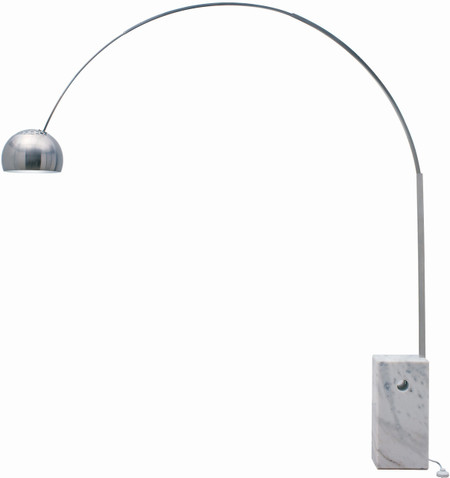 mid century arched floor lamp