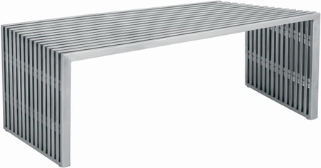 Amici Bench Brushed Stainless Steel